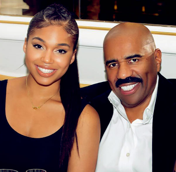 Image of Lori Harvey with her father Steve Harvey