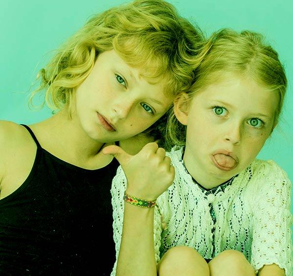 Image of Rebecca Gayheart daughter Billie Beatrice Dane and Georgia Dane