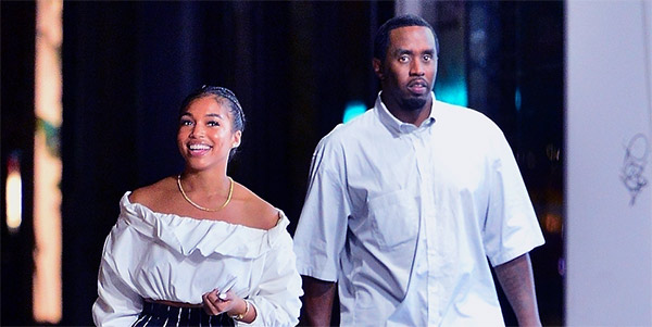 Image of Lori Harvey with rapper Diddy