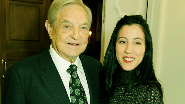 Image of Tamiko Bolton and her second husband, George Soros