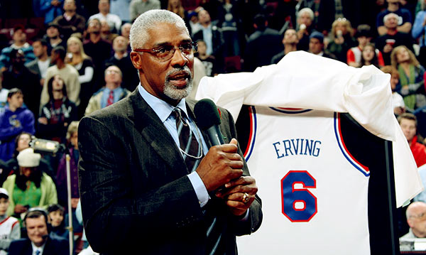Image of Julius Erving Retired Basketball Player