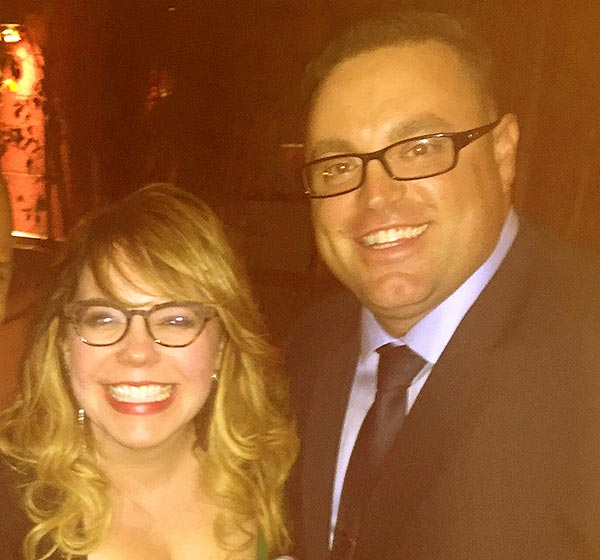 Image of Kirsten Vangsness engaged with Keith Hanson