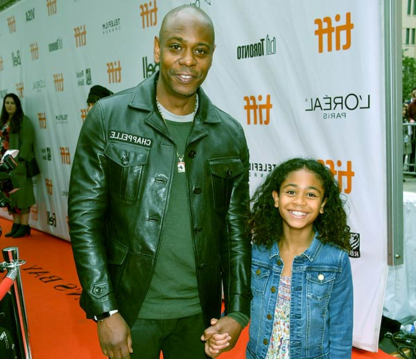 Image of Dave Chappelle with his daughter Sonal Chapelle