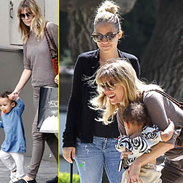 Image of Nicole Ritchie and Ellen Pompeo with their children on a play-date