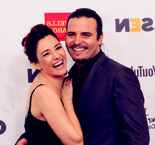 Image of Chyler Leigh with her husband Nathan West