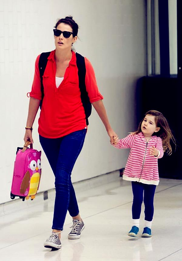 Image of Cobie Smulders with her daughter Shaelyn Cado Killam