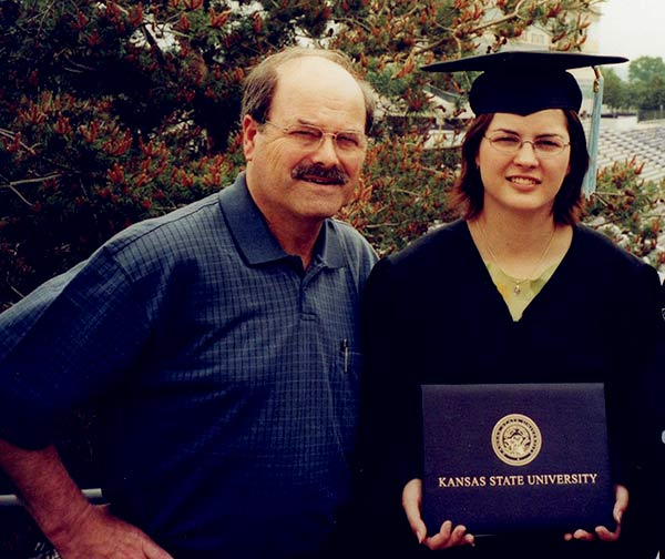 Image of Kerri Rawson on her graduation day with Serial Killer father Dennis Rader