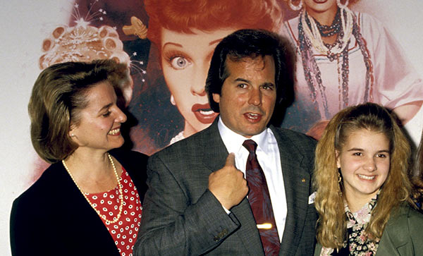 Image of Desi Arnaz Jr with his late wife Amy Laura Bargiel and with daughter Haley Arnaz
