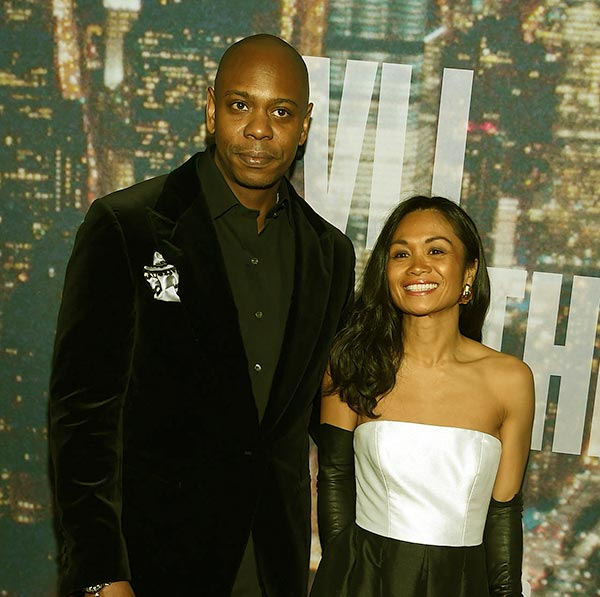 Image of Dave Chappelle with his wife Elaine Chappelle