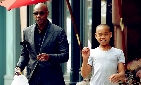 Image of Dave Chappelle younger Son Ibrahim Chappelle