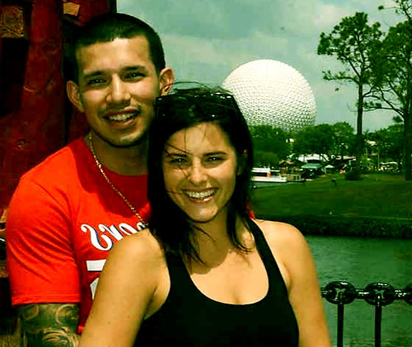Image of Javi Marroquin with his wife Lauren Comeau
