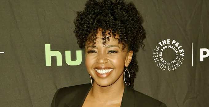 Image of Is Jerrika Hinton married or dating. who is her husband. her net worth, family