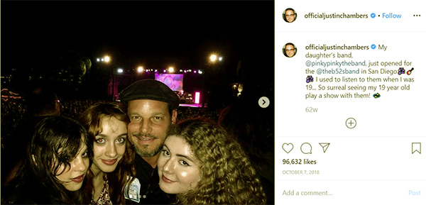 """Image of Justin Chambers on Instagram: """"My daughter's band"""