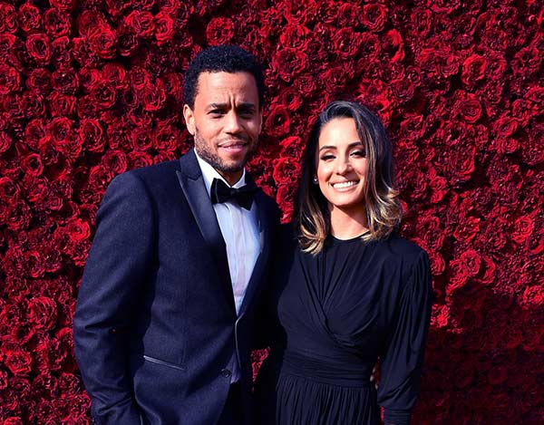 Image of Michael Ealy with his wife Khatira Rafiqzada