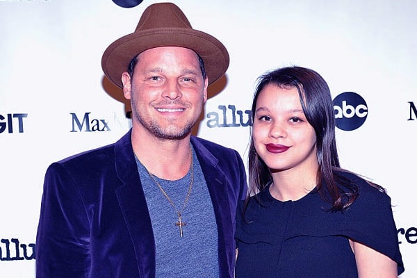 Image of Justin Chambers with the eldest daughter Isabella