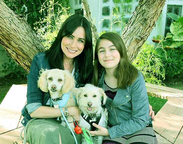 Image of Rena Sofer with her daughter Avalon Leone Bookstaver
