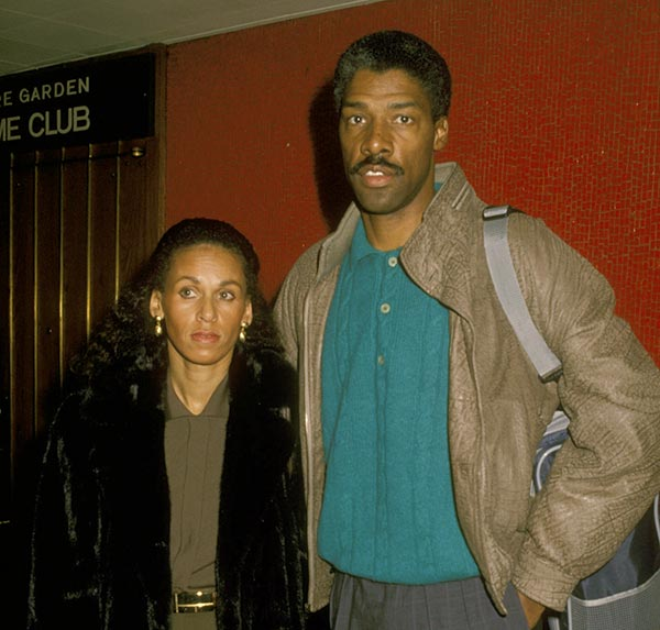 Image of Julius Erving with his first wife Turquoise Erving