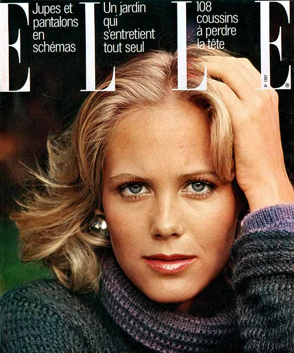 Image of Caption: Nina Griscom in the cover page of Elle