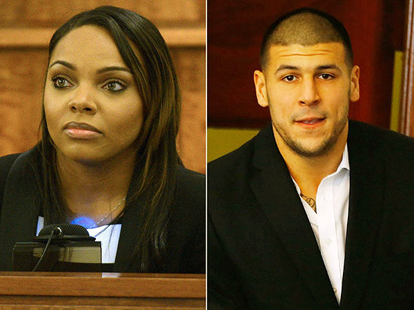Image of Caption: Aaron Hernandez and Shayanna Jenkins