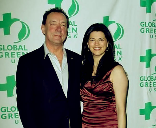 Image of Caption: Neil Peart with his wife Carrie Nuttall