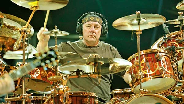 Image of Caption: Neil Peart, Drammer of rock band Rush