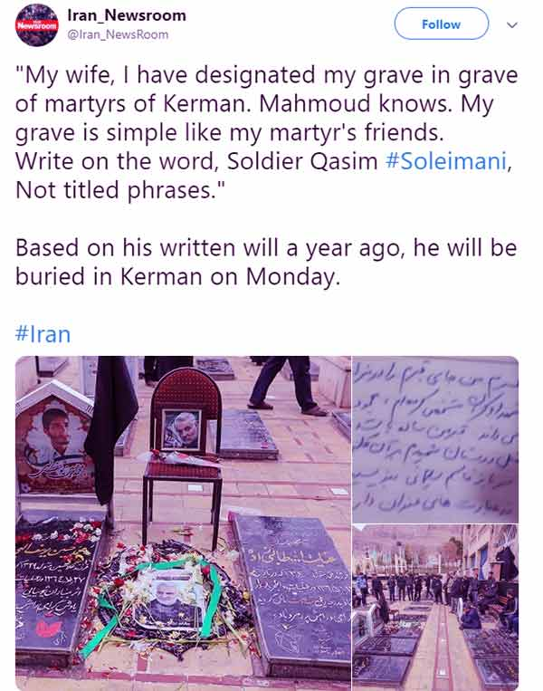 Image of General, Qasem Soleimani died on January 3, 2020, at the age of 62