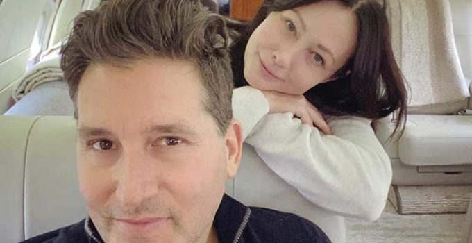 Image of Kurt Iswarienko with his wife Shannen Doherty who is recently stage 4 cancer patient