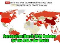 Image of Coronavirus March 2020 Updates for the USA & the World